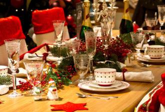 Christmas themed dinner table; Shutterstock ID 117769615; PO: The Huffington Post; Job: The Huffington Post; Client: The Huffington Post; Other: The Huffington Post