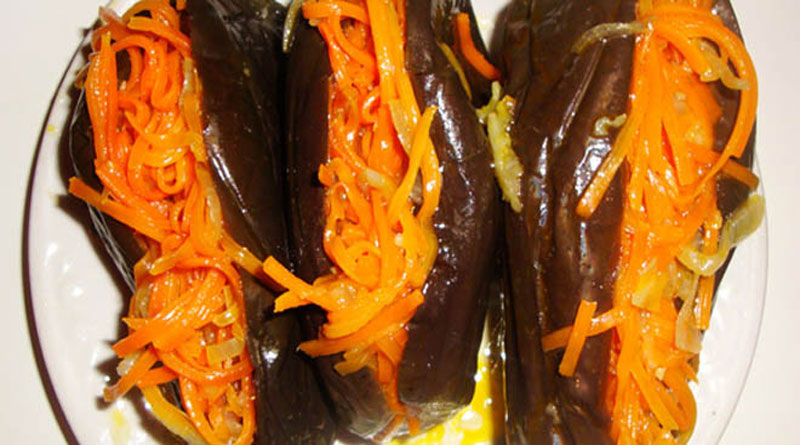 Синенькие с морковью на зиму рецепт