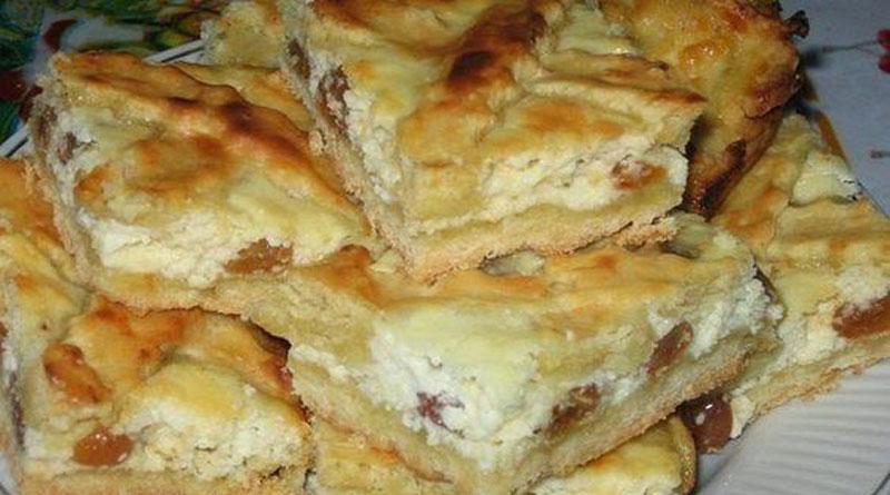 Пирог с творогом на сметане рецепт с