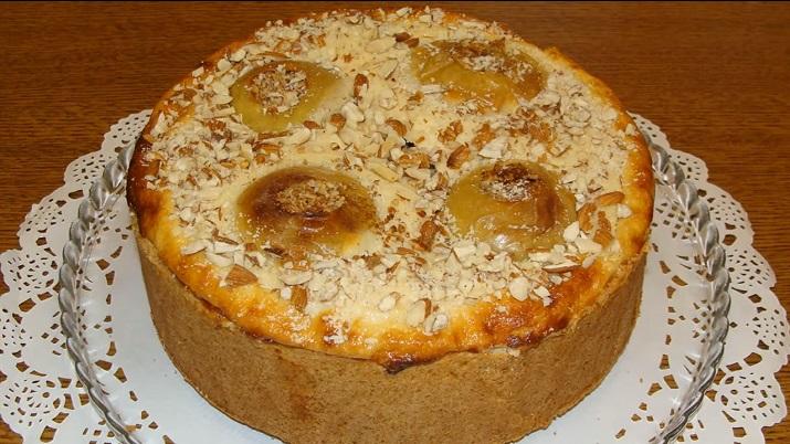 Изумительный пирог «Заливные яблочки» с творогом