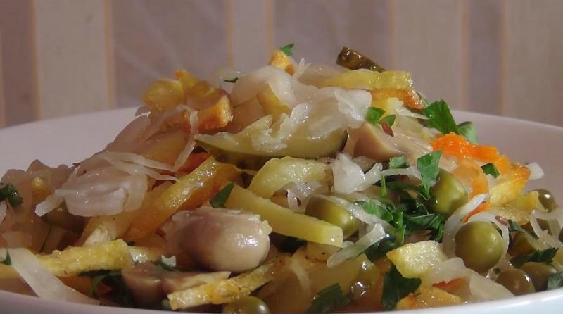 Салат закусочный: очень простая постная закуска
