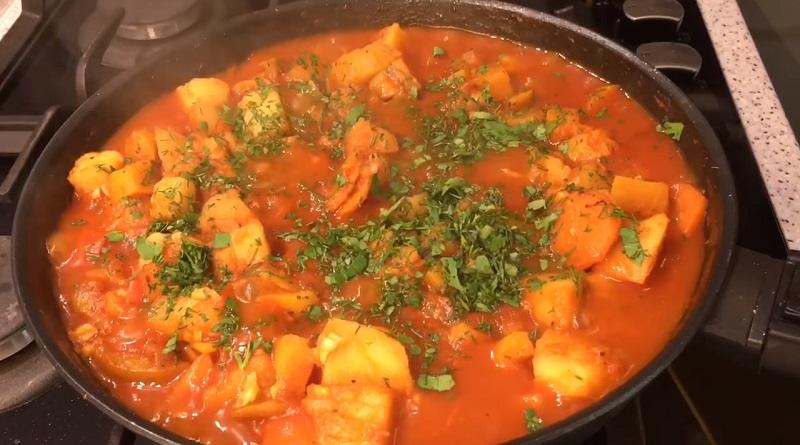 Постное овощное рагу: хоть и без мяса, но очень вкусно и сытно