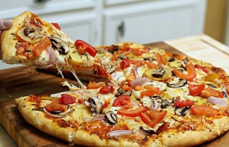 Аппетитная постная пицца с грибами