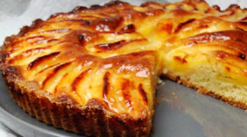 Простой-открытый-яблочный-пирог