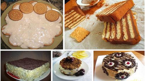 Торты-из-печенья-без-выпечки-5-лучших-рецептов