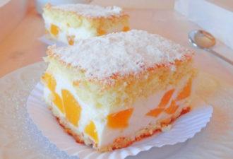 Творожный-пирог-с-персиками