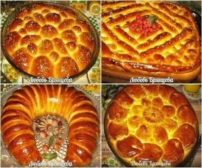 Шикарная подборка дрожжевых пирогов