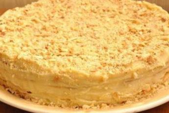 Домашний-торт-Наполеон-с-заварным-кремом