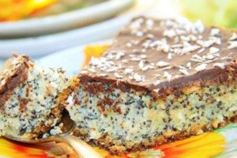 Шоколадно-лимонный-торт-с-маком