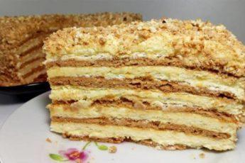 Торт-Сметанник-на-скорую-руку
