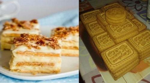 Вкусный-торт-из-печенья-и-творожного-крема-без-выпечки