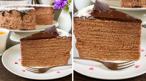 Шоколадно-медовый-торт