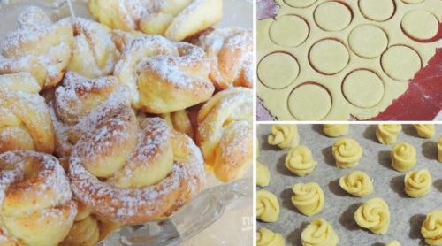 печенье-Роза-из-творожного-теста