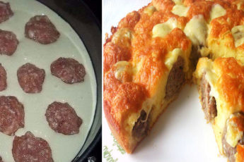 Пирог-с-фрикадельками-под-сырной-коркой