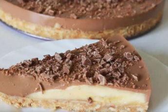 Шоколадно-банановый-торт-без-выпечки