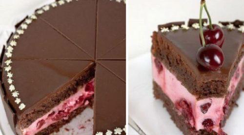 Шоколадный-торт-с-вишневым-кремом-и-ягодами