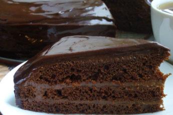 Шоколадный-торт-со-сгущенкой