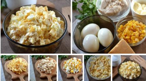 Салат-с-курочкой-сыром-и-кукурузой