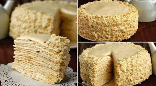 Торт-Наполеон-с-очень-вкусным-кремом.