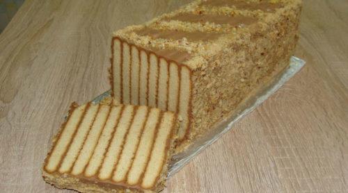 Торт-без-выпечки-Полосатый