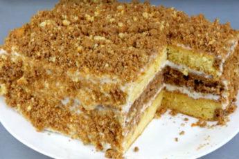 Торт-со-сгущенкой-быстрого-приготовления