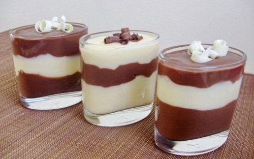 Ванильно-шоколадный-пудинг