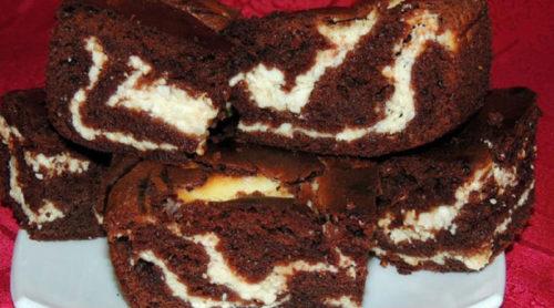 Нежный-шоколадно-творожный-пирог