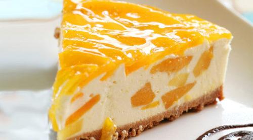 Персиковый-торт-суфле-без-выпечки