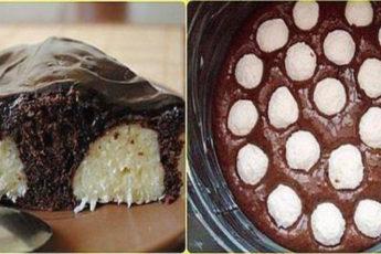 Шоколадный-пирог-с-творожными-шариками