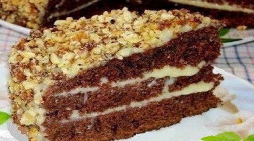 Шоколадный-торт-на-кефире