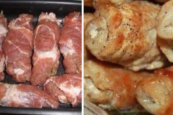 Свиные-рулеты-с-грибами-и-сыром
