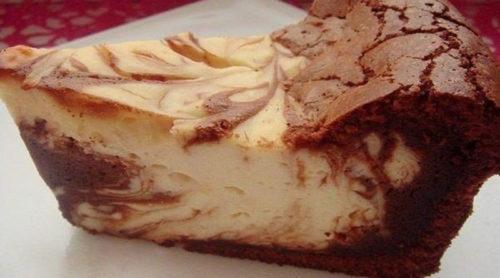 Творожно-шоколадная-запеканка-Мраморная