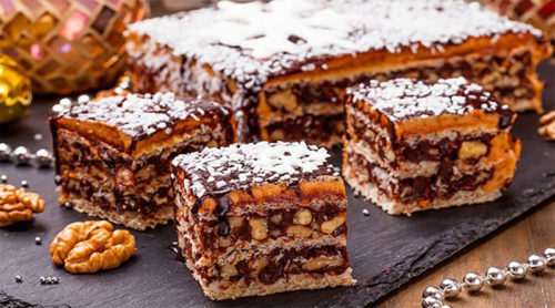 Вафельный-торт-Грильяж