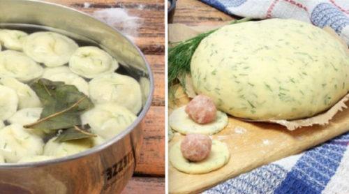 Вкуснейшие-пельмени-из-теста-с-зеленью