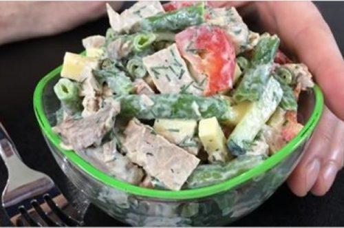Мясной-салат-Любимчик»