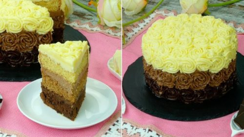 Торт-Трио-с-шоколадными-коржами