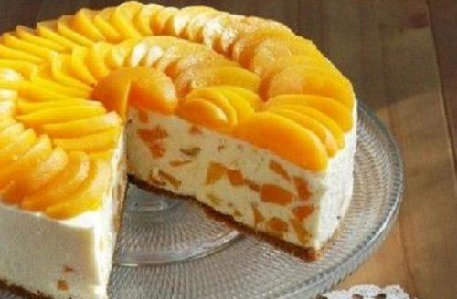 Творожный-торт-с-апельсинами-без-выпечки