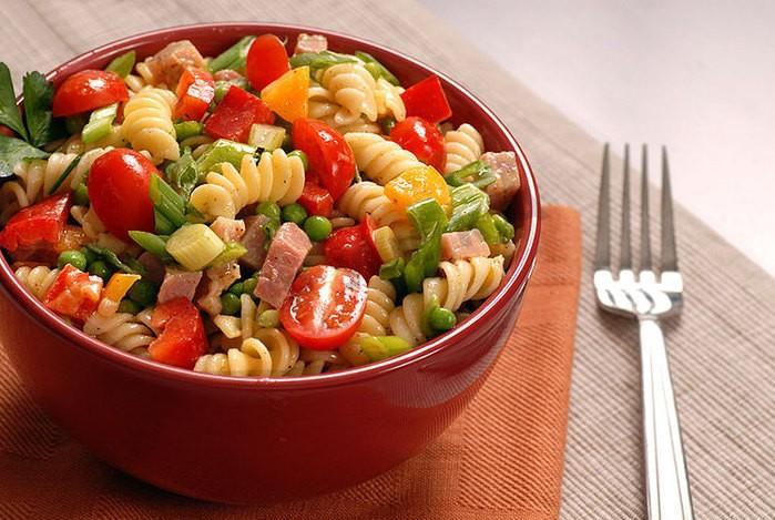 Картинки по запросу Итальянский салат с ветчиной, сыром и овощами