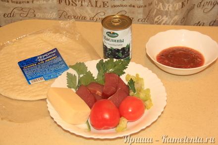 """Приготовление рецепта Пицца """"Минутка"""" шаг 1"""