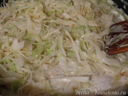 Приготовление рецепта Капустный пирог с молочной капустой шаг 7
