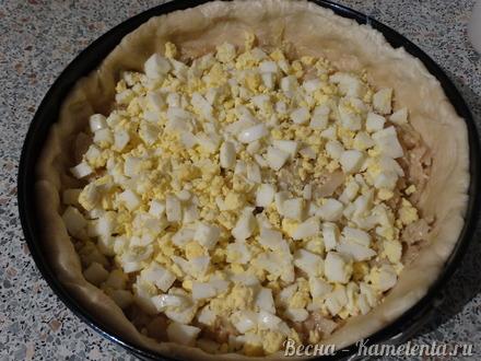 Приготовление рецепта Капустный пирог с молочной капустой шаг 11
