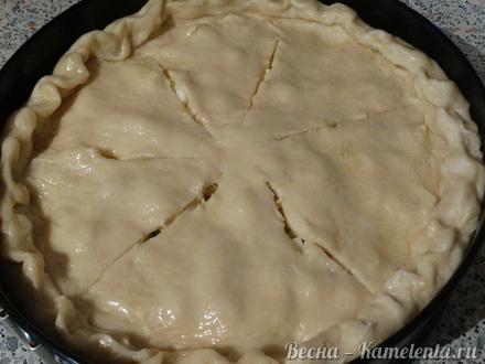 Приготовление рецепта Капустный пирог с молочной капустой шаг 12