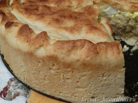 Приготовление рецепта Капустный пирог с молочной капустой шаг 13