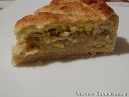 Приготовление рецепта Капустный пирог с молочной капустой шаг 14