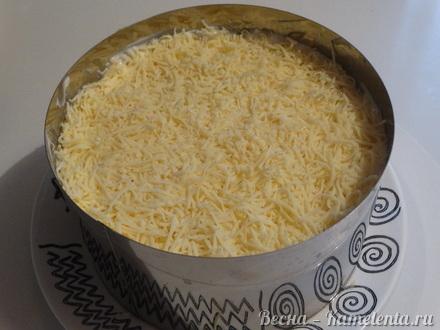 Приготовление рецепта Салат слоёный с копчёной курочкой шаг 10