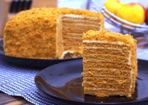 Торт-Ленивый-медовик