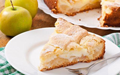 яблочный-пирог-с-заварным-кремом