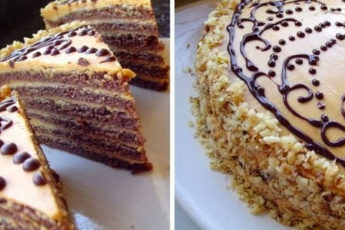 Шоколадный-торт-со-сгущёнкой