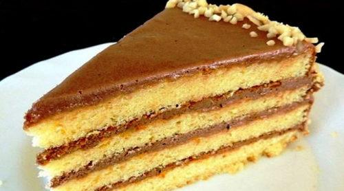 Бисквитный-торт-со-сгущёнкой