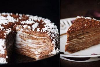 шоколадный-тортик-на-сковороде